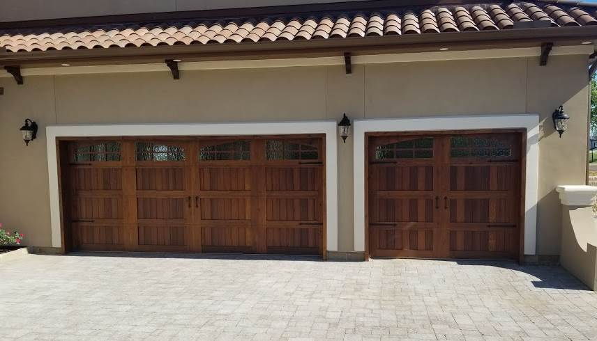 new wood garage doors in lakeway