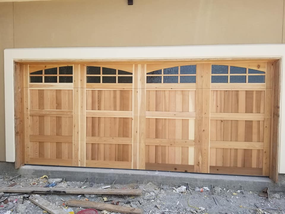 new custom wood garage doors in san marcos