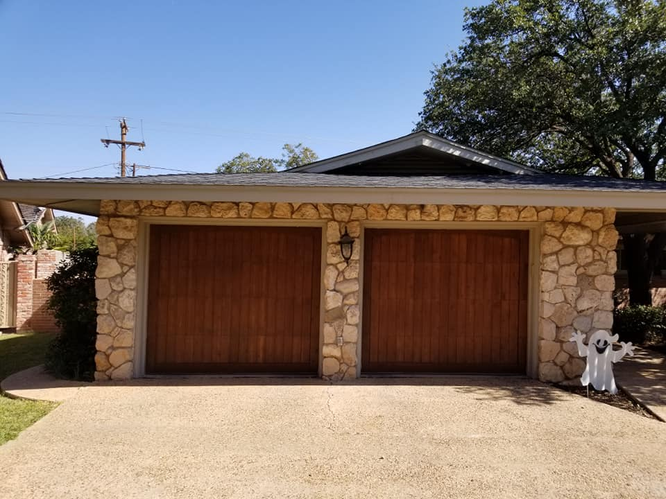 austin new wood garage doors